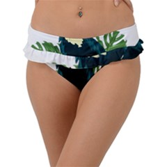Tropical Birds Frill Bikini Bottom
