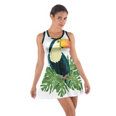 Tropical Birds Cotton Racerback Dress