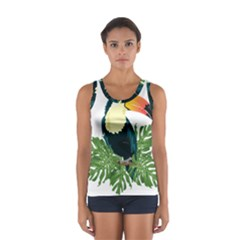 Tropical Birds Sport Tank Top