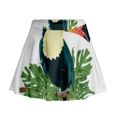 Tropical Birds Mini Flare Skirt