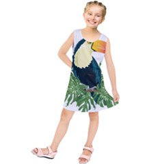 Tropical Birds Kids  Tunic Dress
