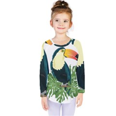 Tropical Birds Kids  Long Sleeve Tee