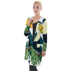 Tropical Birds Hooded Pocket Cardigan