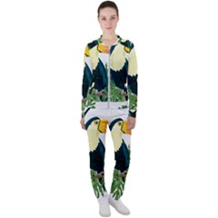 Tropical Birds Casual Jacket And Pants Set