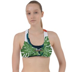 Tropical Birds Criss Cross Racerback Sports Bra