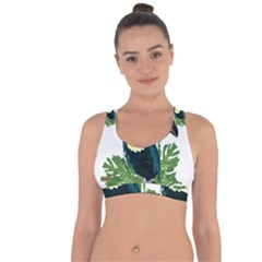 Tropical Birds Cross String Back Sports Bra