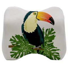Tropical Birds Velour Head Support Cushion