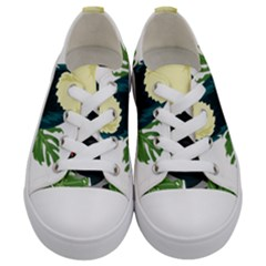 Tropical Birds Kids  Low Top Canvas Sneakers