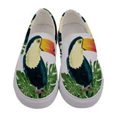 Tropical Birds Women s Canvas Slip Ons