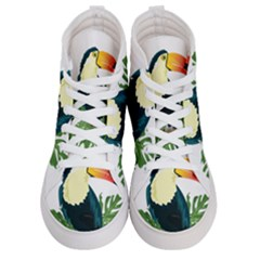 Tropical Birds Men s Hi Top Skate Sneakers