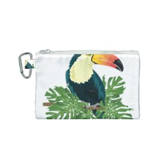 Tropical Birds Canvas Cosmetic Bag (small)