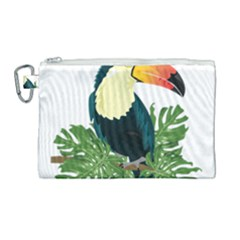 Tropical Birds Canvas Cosmetic Bag (large)
