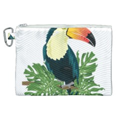 Tropical Birds Canvas Cosmetic Bag (xl)