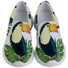 Tropical Birds Kids  Lightweight Slip Ons