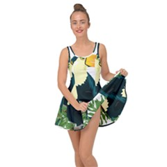 Tropical Birds Inside Out Casual Dress