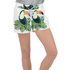 Tropical Birds Women s Velour Lounge Shorts
