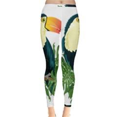 Tropical Birds Inside Out Leggings