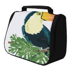 Tropical Birds Full Print Travel Pouch (small)