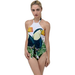 Tropical Birds Go With The Flow One Piece Swimsuit