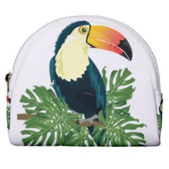 Tropical Birds Horseshoe Style Canvas Pouch