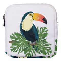 Tropical Birds Mini Square Pouch