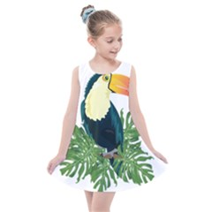 Tropical Birds Kids  Summer Dress