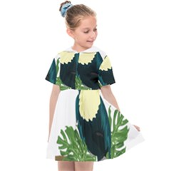 Tropical Birds Kids  Sailor Dress