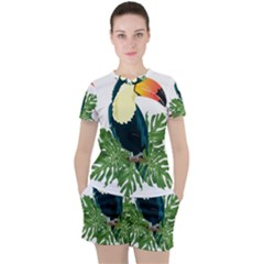 Tropical Birds Women s Tee And Shorts Set