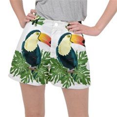 Tropical Birds Stretch Ripstop Shorts