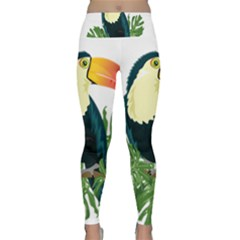 Tropical Birds Lightweight Velour Classic Yoga Leggings
