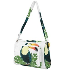 Tropical Birds Front Pocket Crossbody Bag