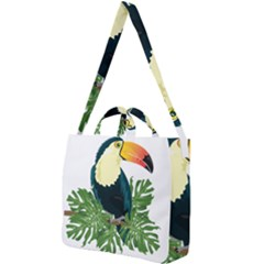 Tropical Birds Square Shoulder Tote Bag