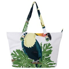 Tropical Birds Full Print Shoulder Bag