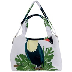 Tropical Birds Double Compartment Shoulder Bag