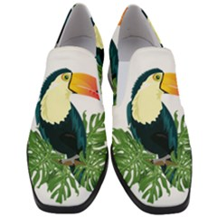 Tropical Birds Slip On Heel Loafers