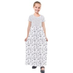 Wallpaper Note Tone Music Kids  Short Sleeve Maxi Dress by AnjaniArt