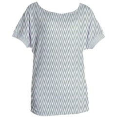 Vintage Pattern Chevron Women s Oversized Tee by AnjaniArt
