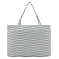 Vintage Pattern Chevron Zipper Medium Tote Bag by AnjaniArt