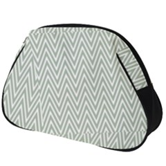 Vintage Pattern Chevron Full Print Accessory Pouch (big)