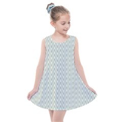 Vintage Pattern Chevron Kids  Summer Dress by AnjaniArt