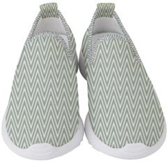 Vintage Pattern Chevron Kids  Slip On Sneakers