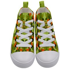 Texture Plant Herbs Herb Green Kids  Mid Top Canvas Sneakers