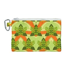 Texture Plant Herbs Herb Green Canvas Cosmetic Bag (medium)