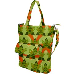 Texture Plant Herbs Herb Green Shoulder Tote Bag by Pakrebo