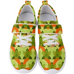 Texture Plant Herbs Herb Green Men s Velcro Strap Shoes