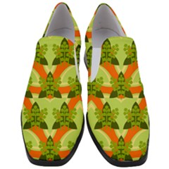 Texture Plant Herbs Herb Green Slip On Heel Loafers