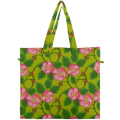 Roses Flowers Pattern Bud Pink Canvas Travel Bag