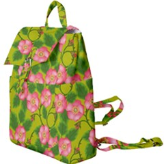 Roses Flowers Pattern Bud Pink Buckle Everyday Backpack