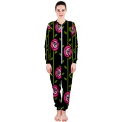 Rose Abstract Rose Garden Onepiece Jumpsuit (ladies)