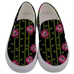 Rose Abstract Rose Garden Men s Canvas Slip Ons
